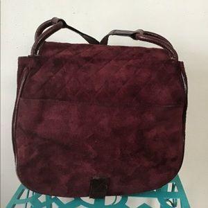 Vintage Yves St Laurent Crossbody Purse Leather